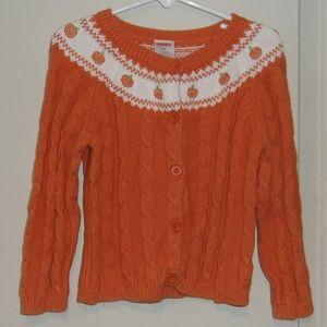 Gymboree Orange Pumpkin Cardigan Sweater